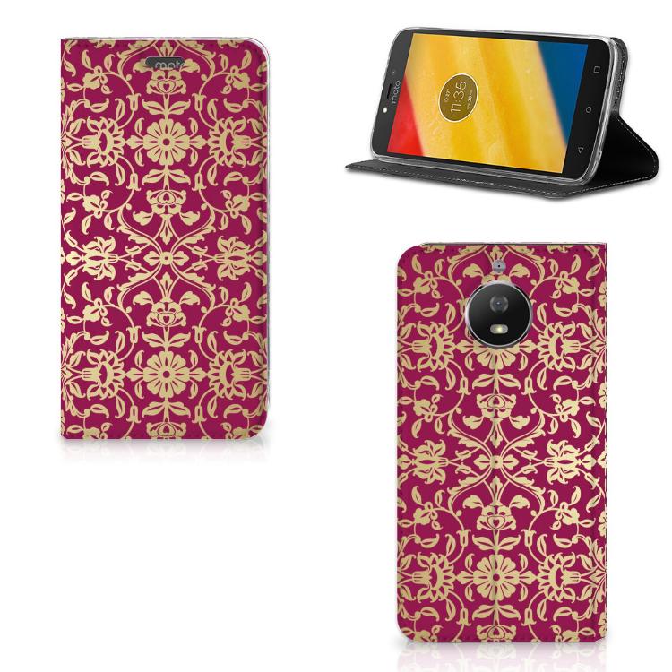 Telefoon Hoesje Motorola Moto G5S Barok Pink