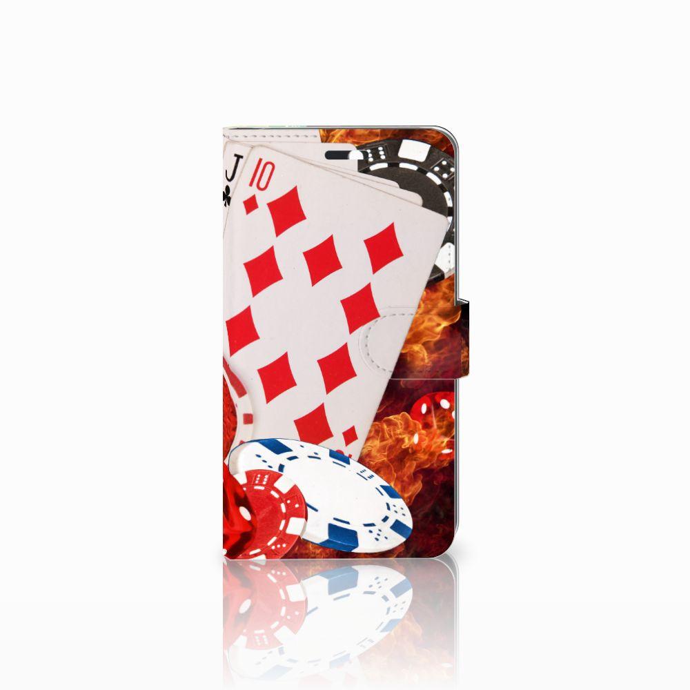 B2Ctelecom Huawei Y6 II | Honor 5A Uniek Boekhoesje Casino