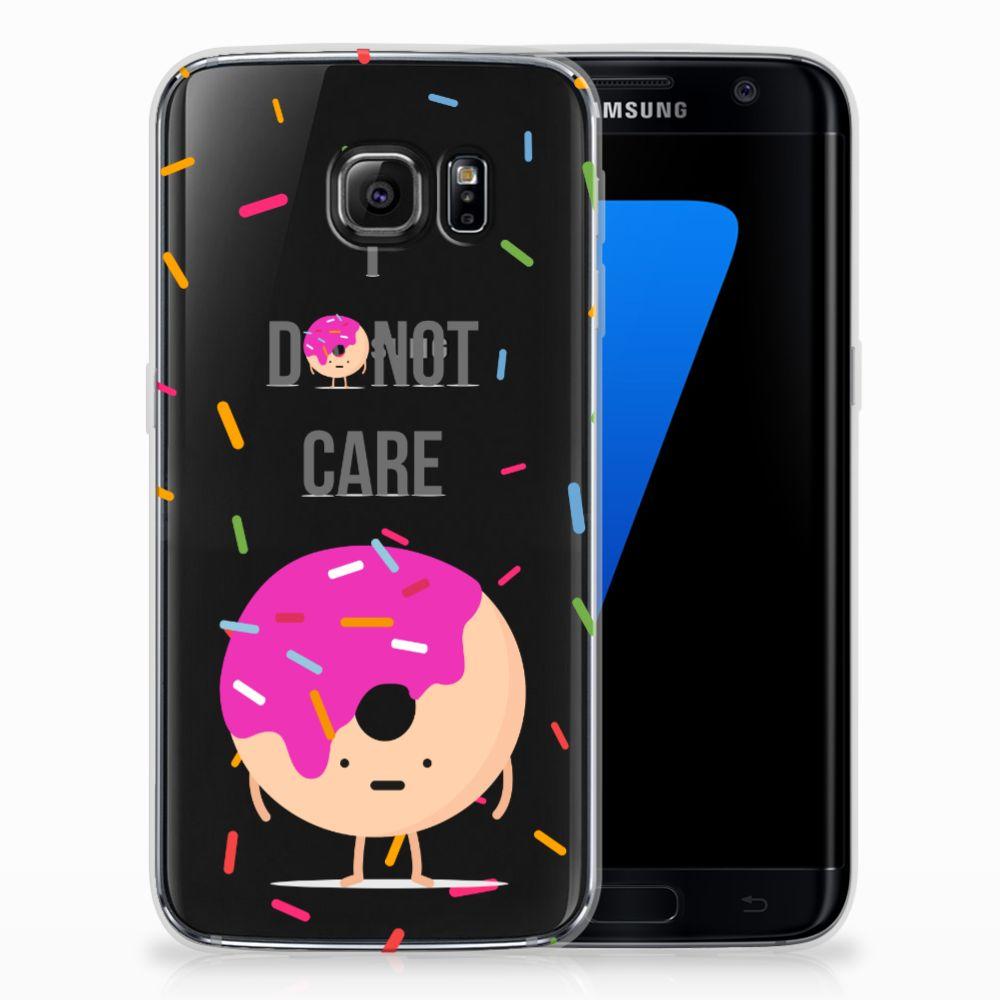 Samsung Galaxy S7 Edge Siliconen Case Donut Roze