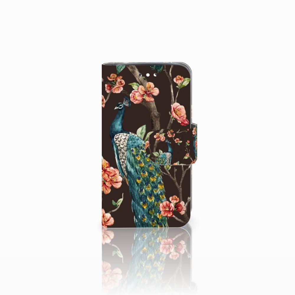 Huawei Y360 Boekhoesje Design Pauw met Bloemen