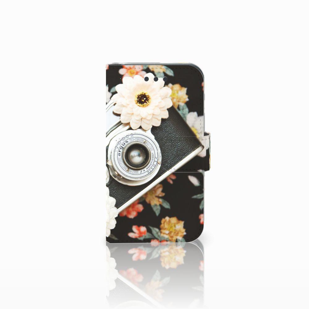 Samsung Galaxy Core 2 Uniek Boekhoesje Vintage Camera