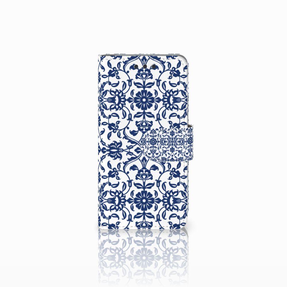 Samsung Galaxy A3 2016 Boekhoesje Flower Blue