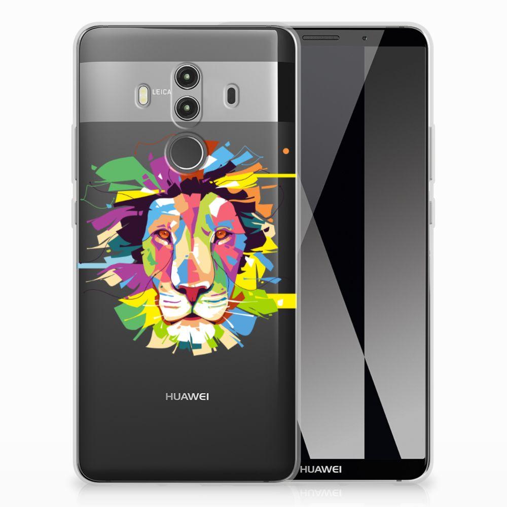 Huawei Mate 10 Pro Uniek TPU Hoesje Lion Color