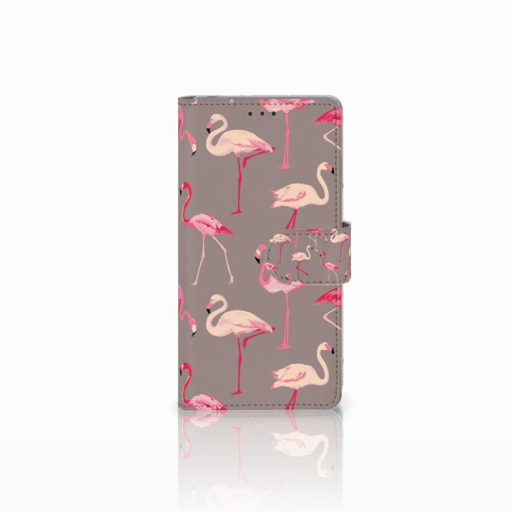 Sony Xperia Z Uniek Boekhoesje Flamingo