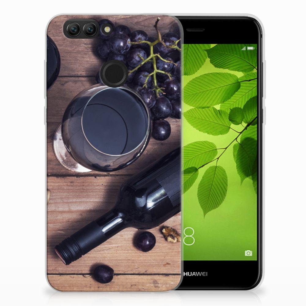 Huawei Nova 2 Siliconen Case Wijn