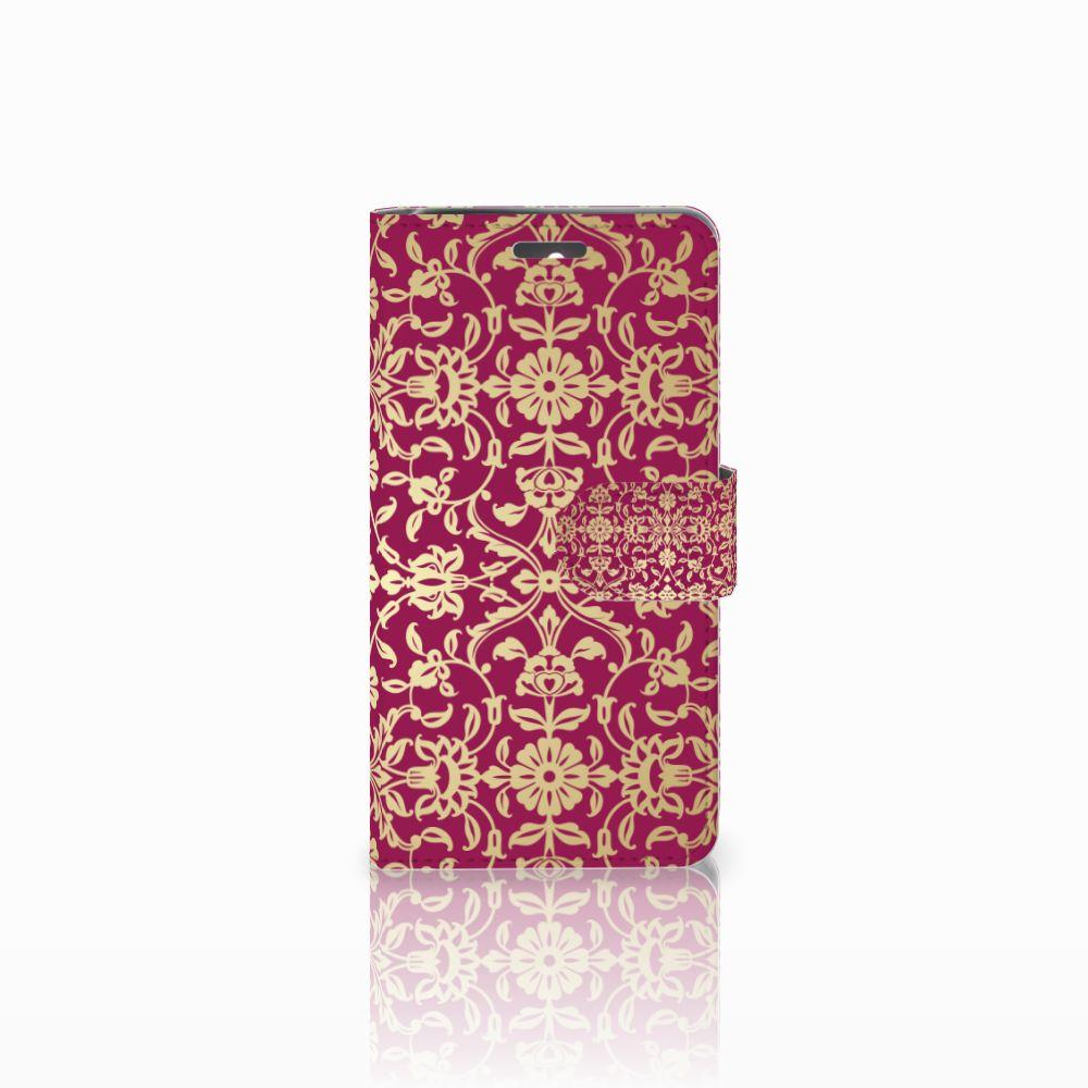 Wallet Case Lenovo K6 Barok Pink