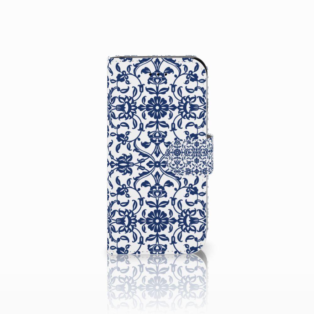 Apple iPhone 6 | 6s Uniek Boekhoesje Flower Blue