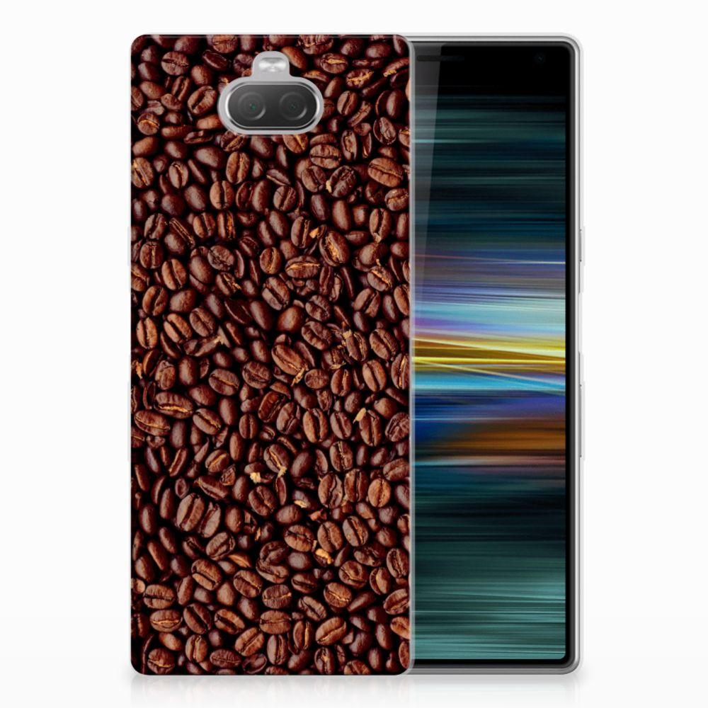 Sony Xperia 10 Plus Siliconen Case Koffiebonen