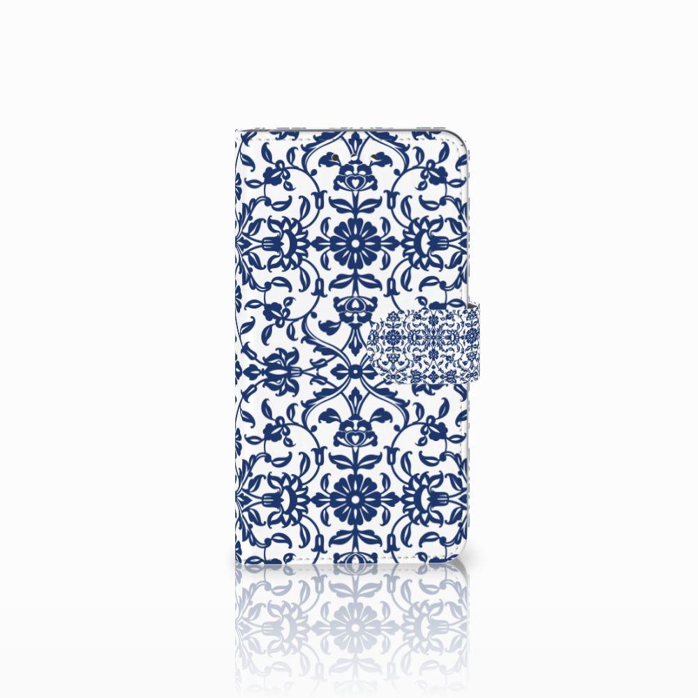 Huawei Y7 2017   Y7 Prime 2017 Boekhoesje Flower Blue