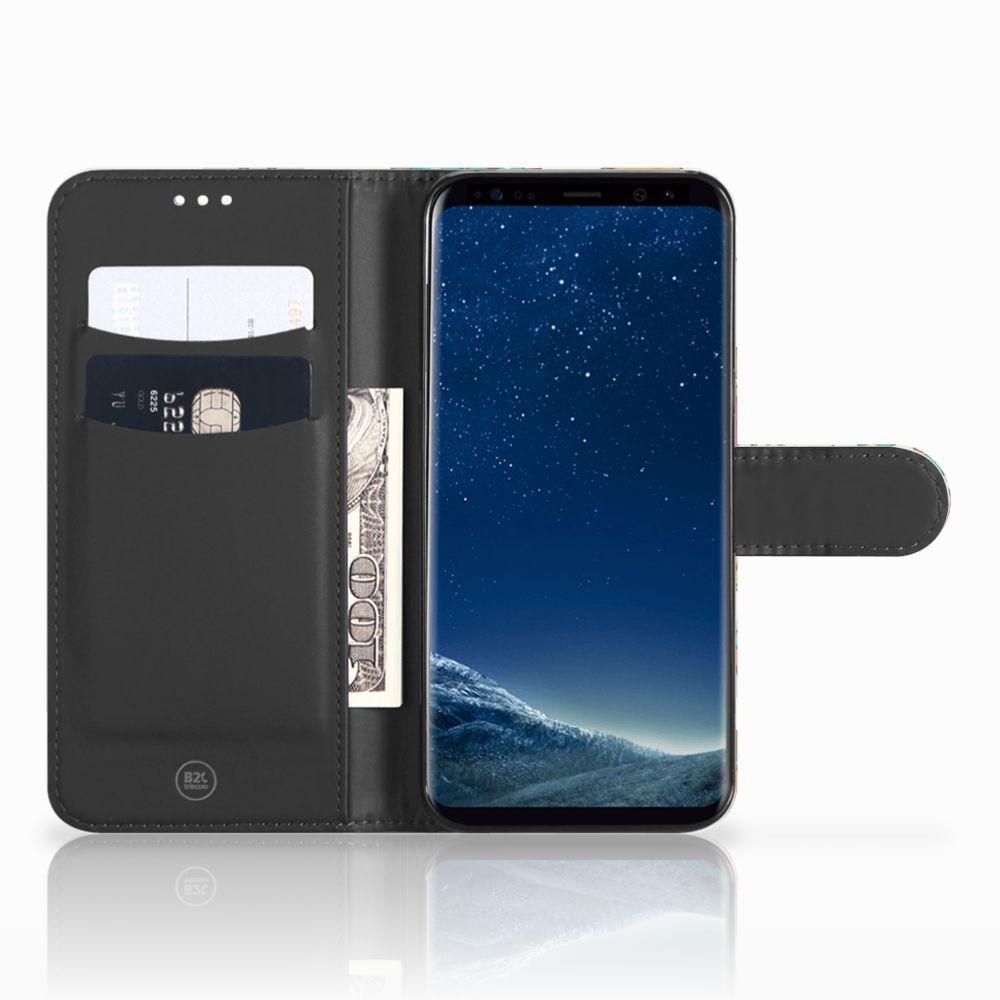 Samsung Galaxy S8 Telefoonhoesje met Pasjes Vrolijke Uilen