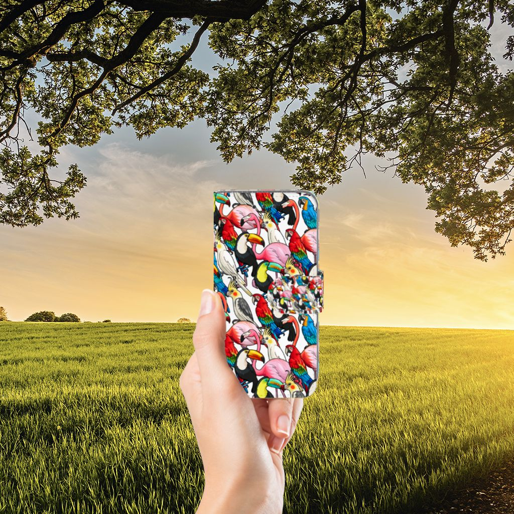 Samsung Galaxy J3 2016 Uniek Boekhoesje Birds