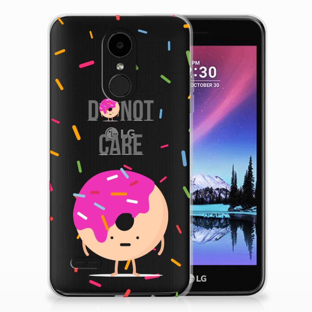 LG K4 (2017) Siliconen Case Donut Roze