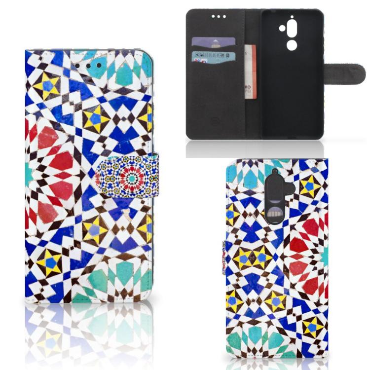 Nokia 7 Plus Boekhoesje Design Mozaïek