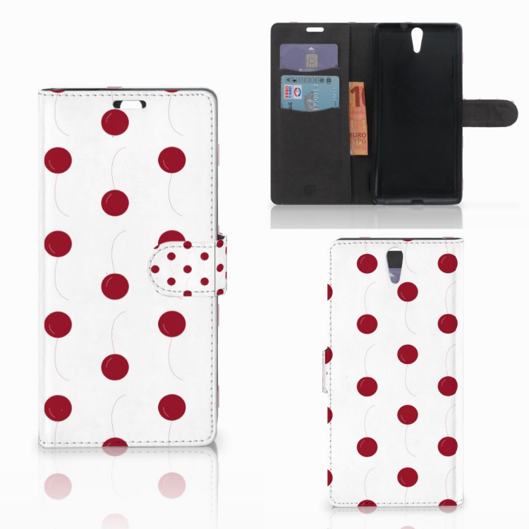 Sony Xperia C5 Ultra Book Cover Cherries