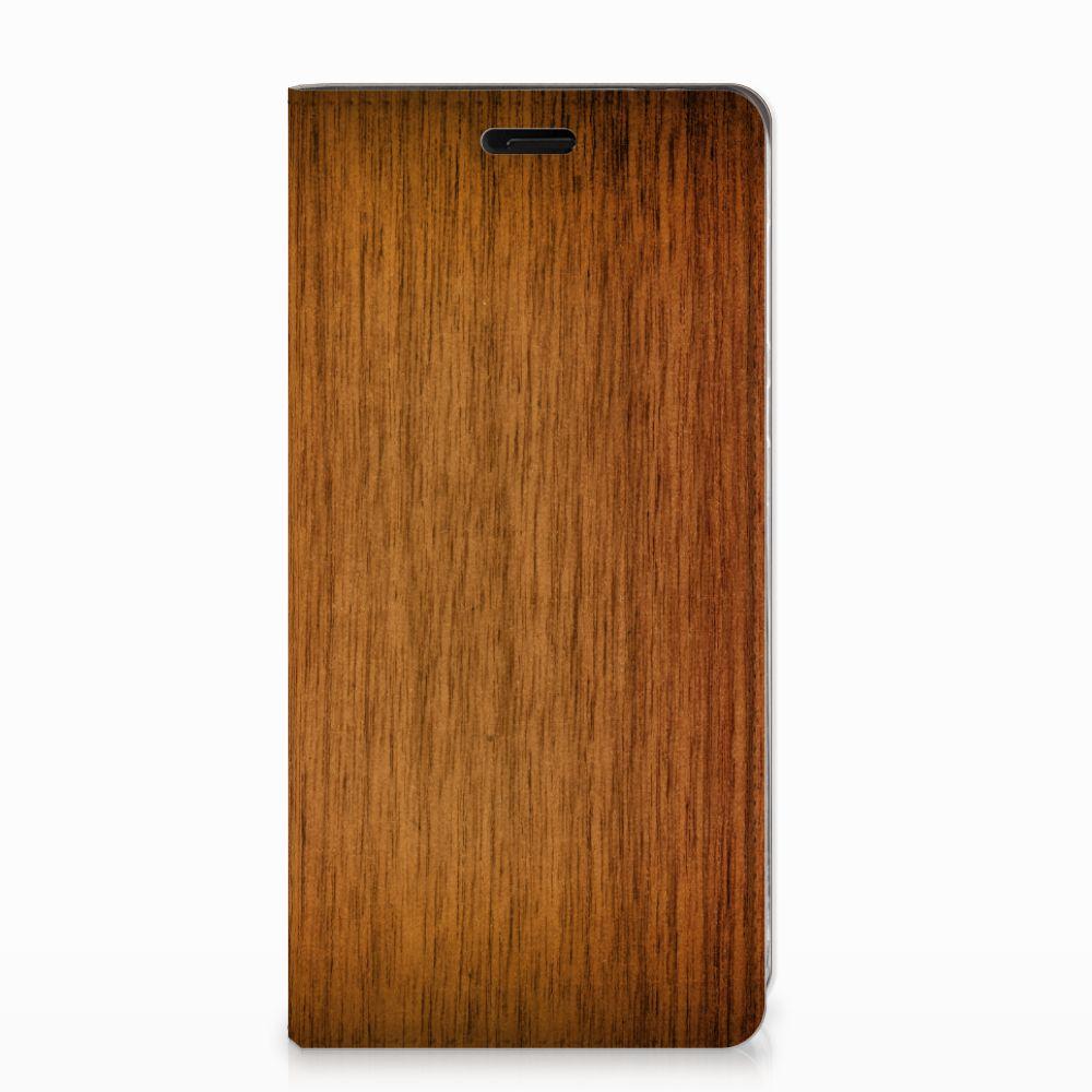 Nokia 8 Book Wallet Case Donker Hout