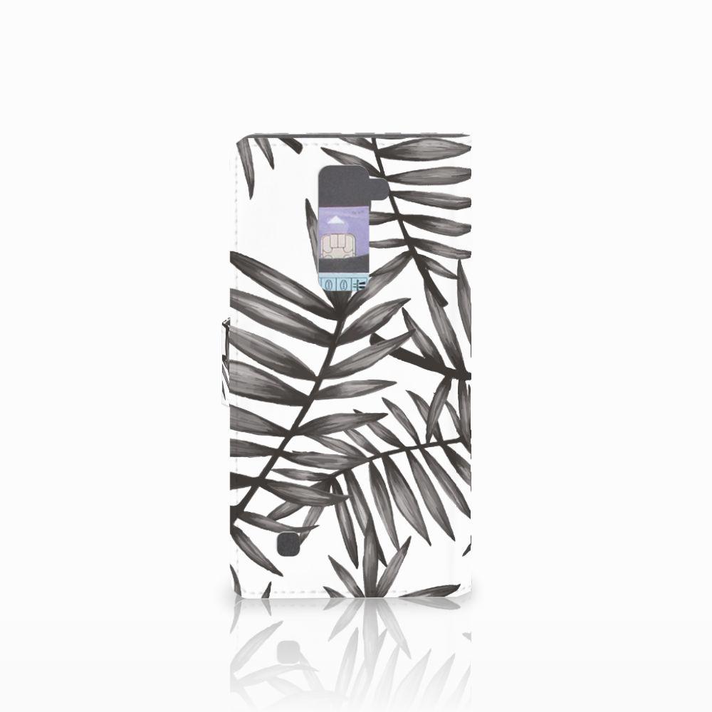 LG K10 2015 Hoesje Leaves Grey