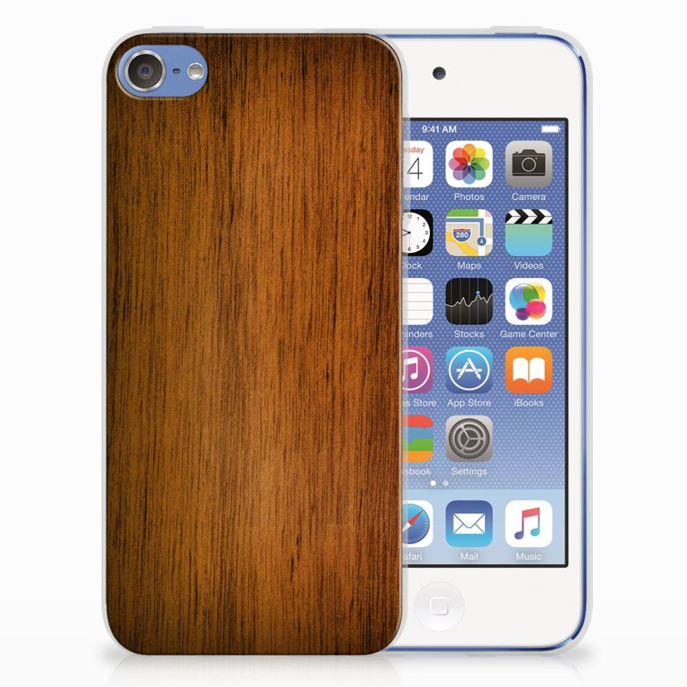 Apple iPod Touch 5 | 6 Bumper Hoesje Donker Hout
