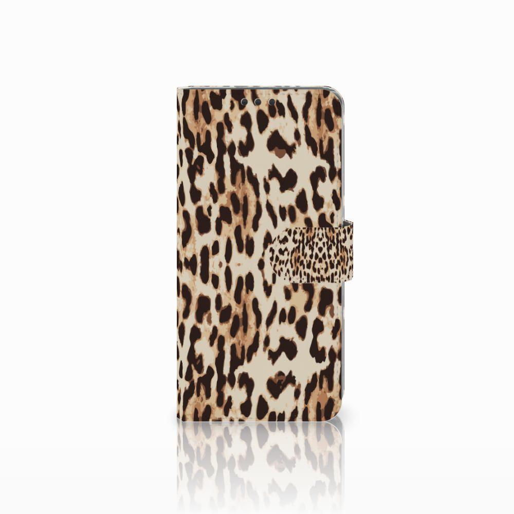 Sony Xperia Z5 Premium Uniek Boekhoesje Leopard