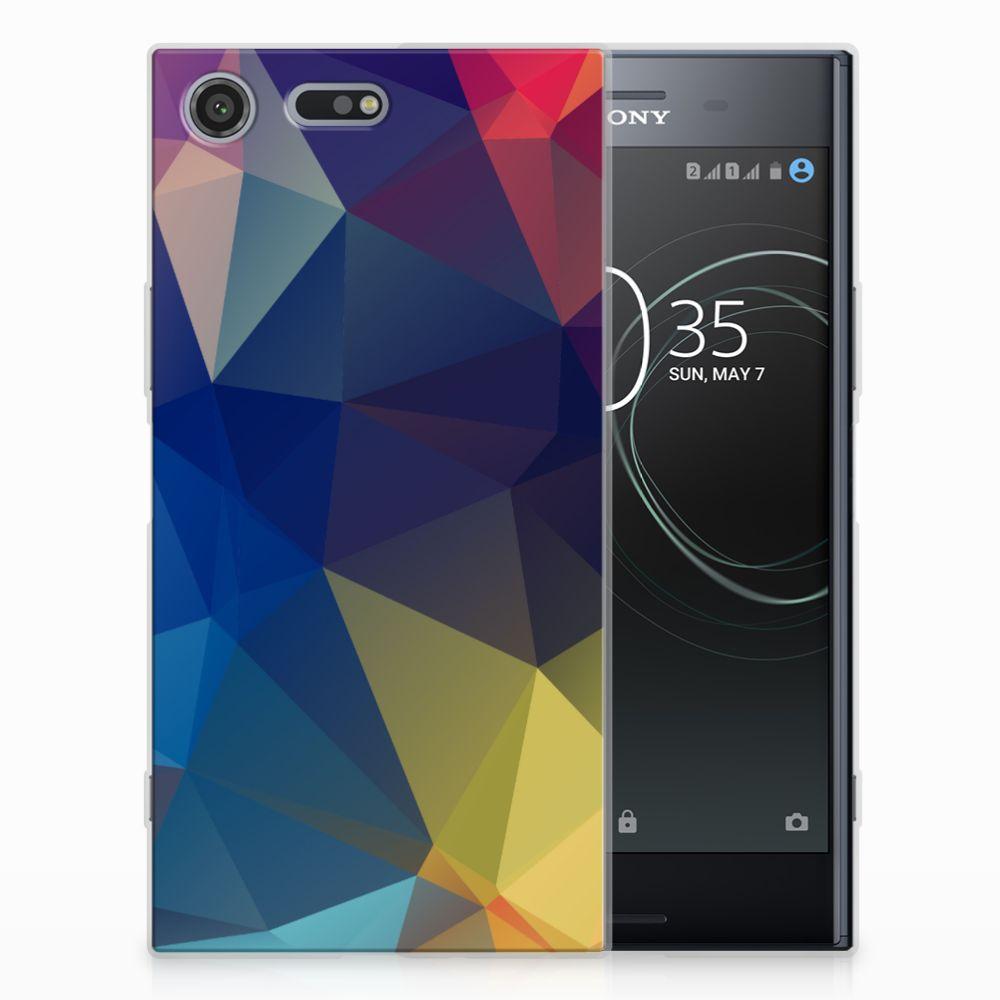 Sony Xperia XZ Premium TPU Hoesje Polygon Dark