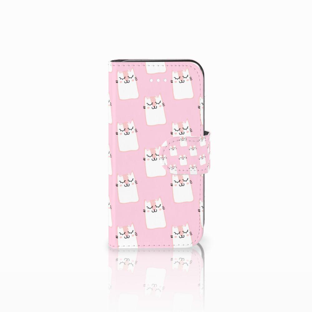 Apple iPhone 5 | 5s | SE Uniek Boekhoesje Sleeping Cats