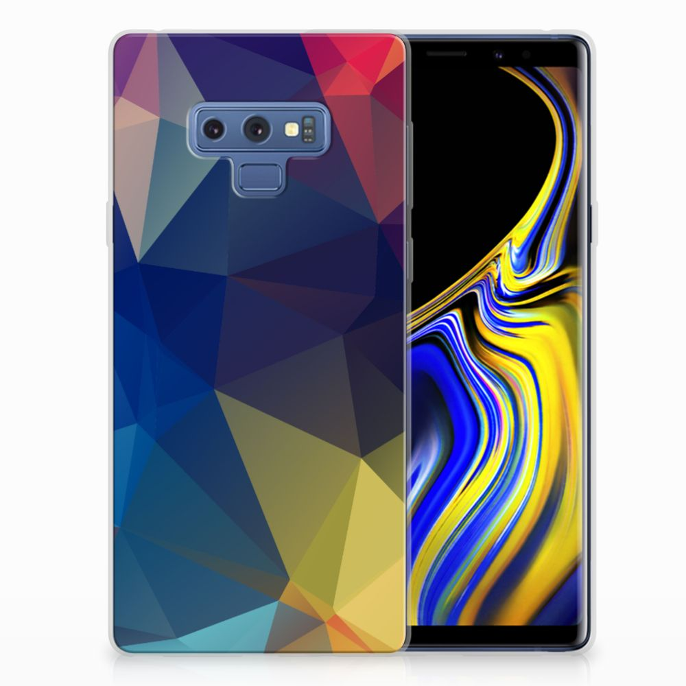 Samsung Galaxy Note 9 TPU Hoesje Polygon Dark