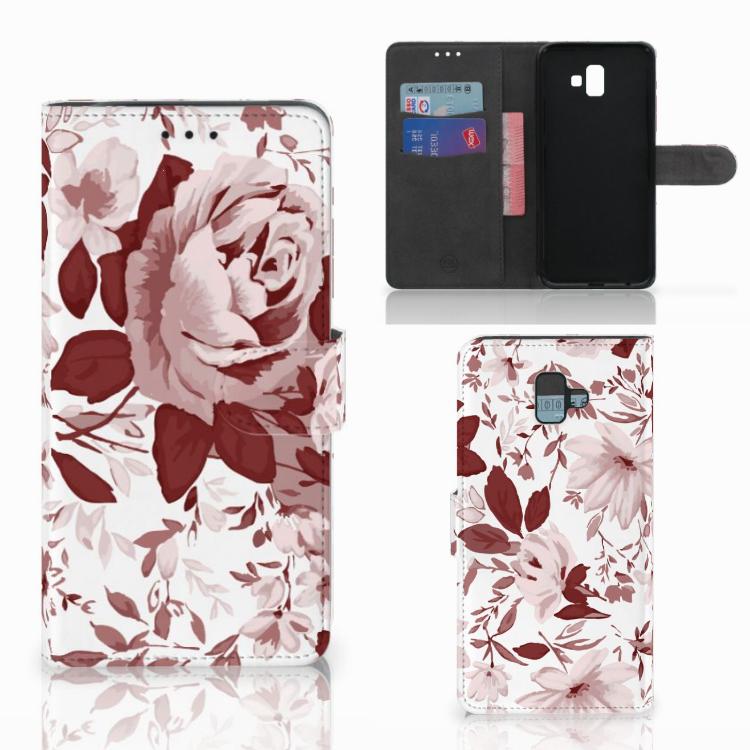 Hoesje Samsung Galaxy J6 Plus (2018) Watercolor Flowers
