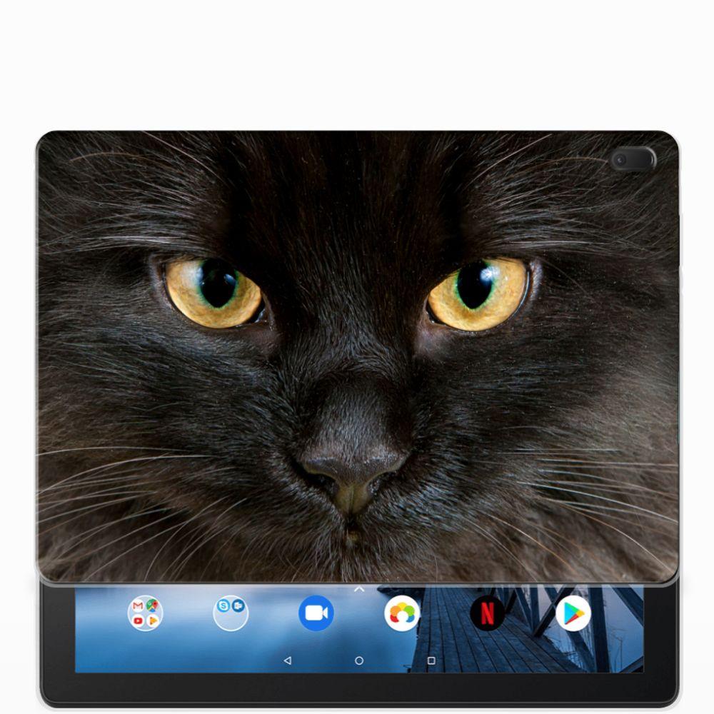 Lenovo Tab E10 Back Case Zwarte Kat