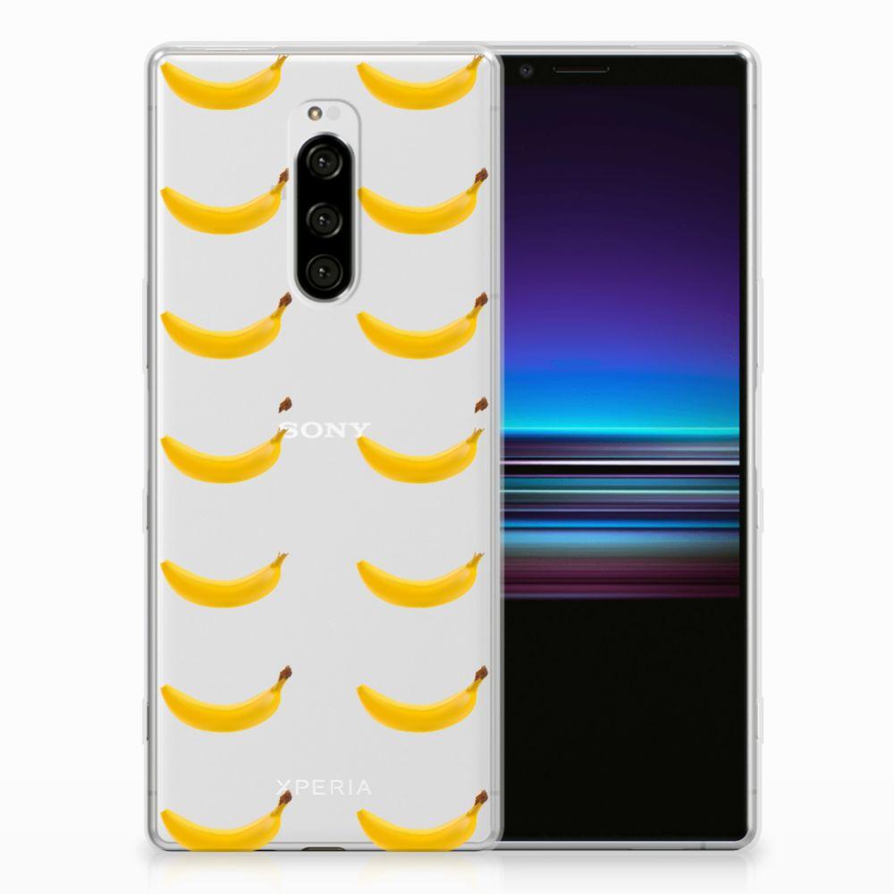 Sony Xperia 1 Siliconen Case Banana