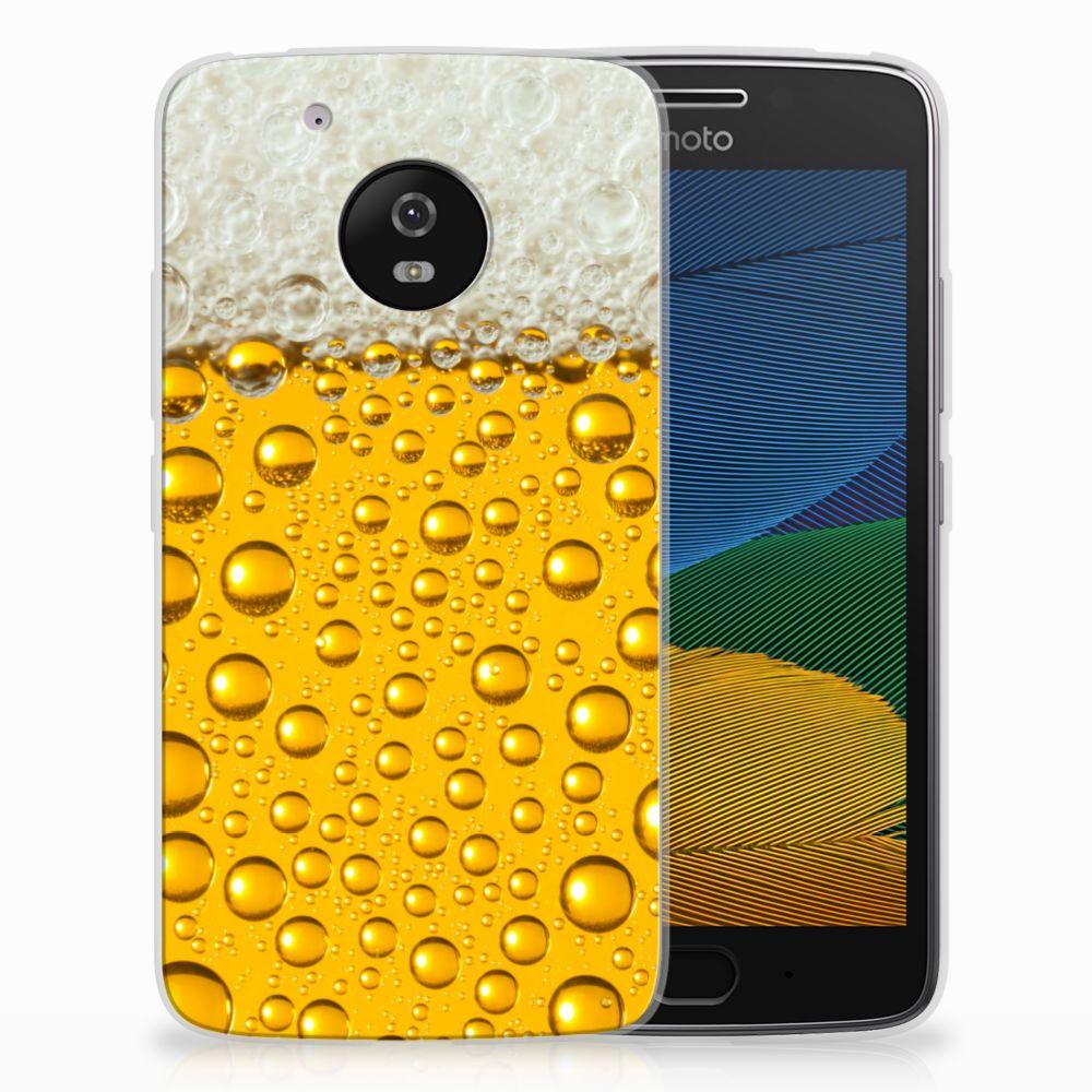 Motorola Moto G5 Siliconen Case Bier