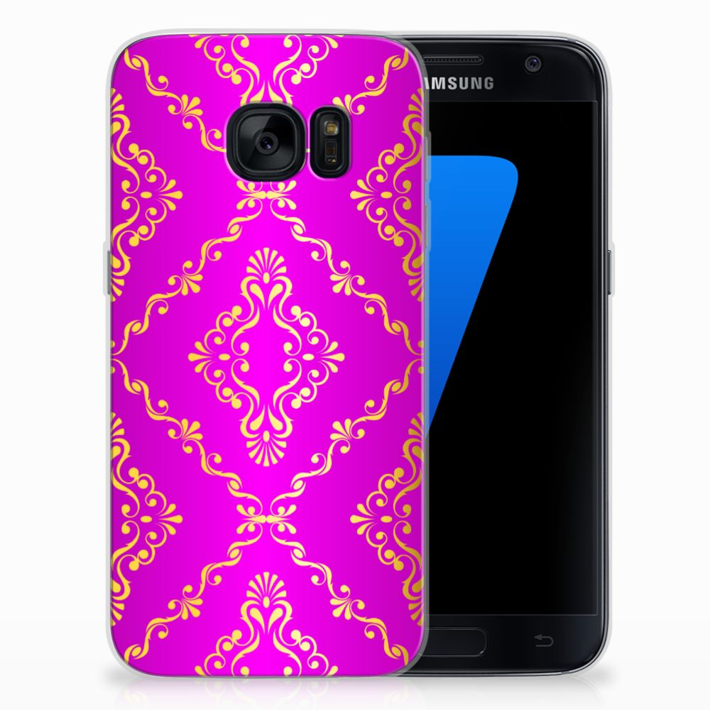 Siliconen Hoesje Samsung Galaxy S7 Barok Roze