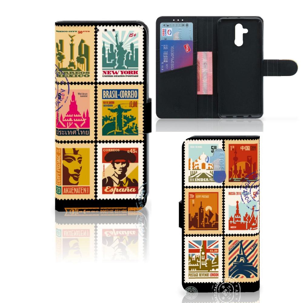 Huawei Mate 20 Lite Flip Cover Postzegels
