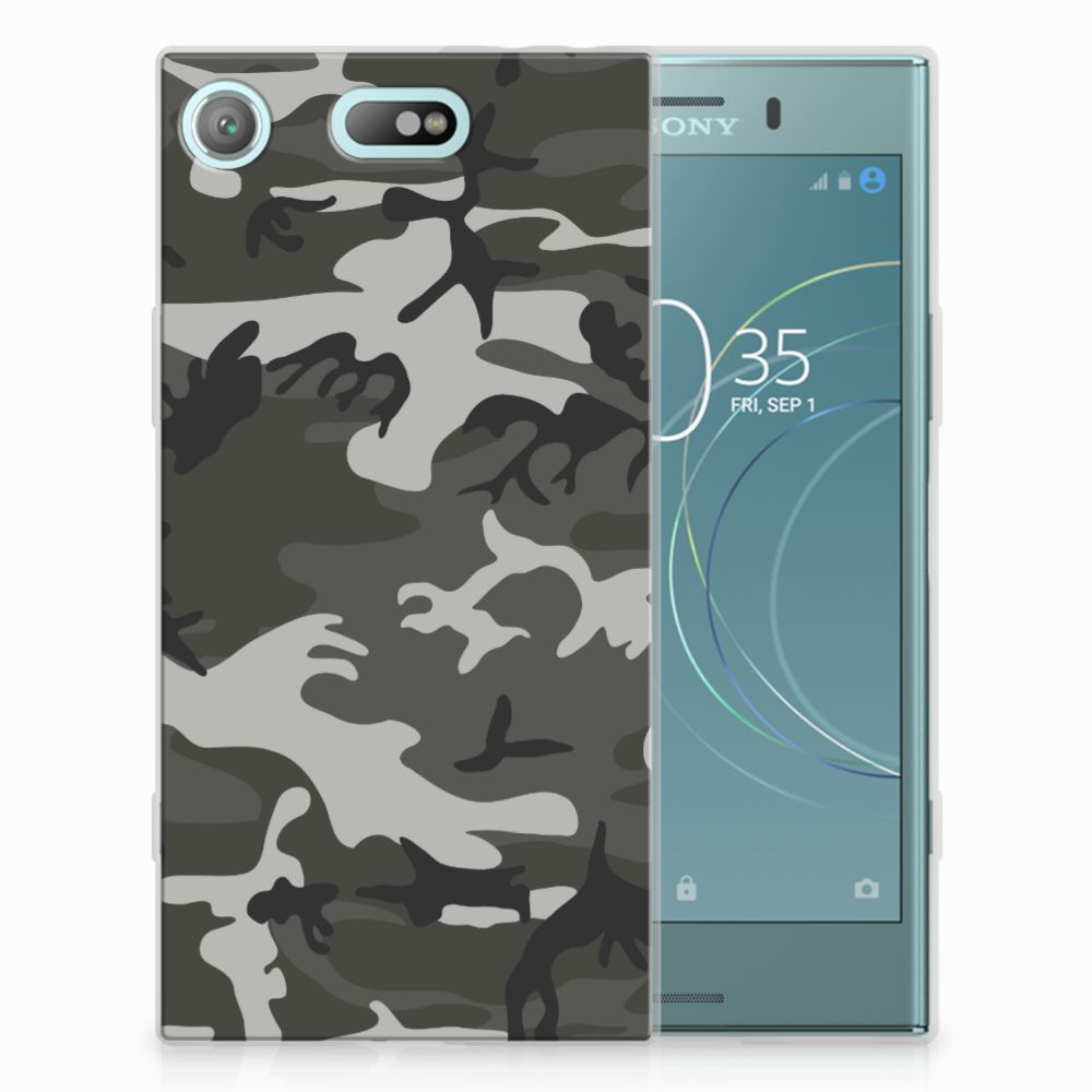 Sony Xperia XZ1 Compact Uniek TPU Hoesje Army Light