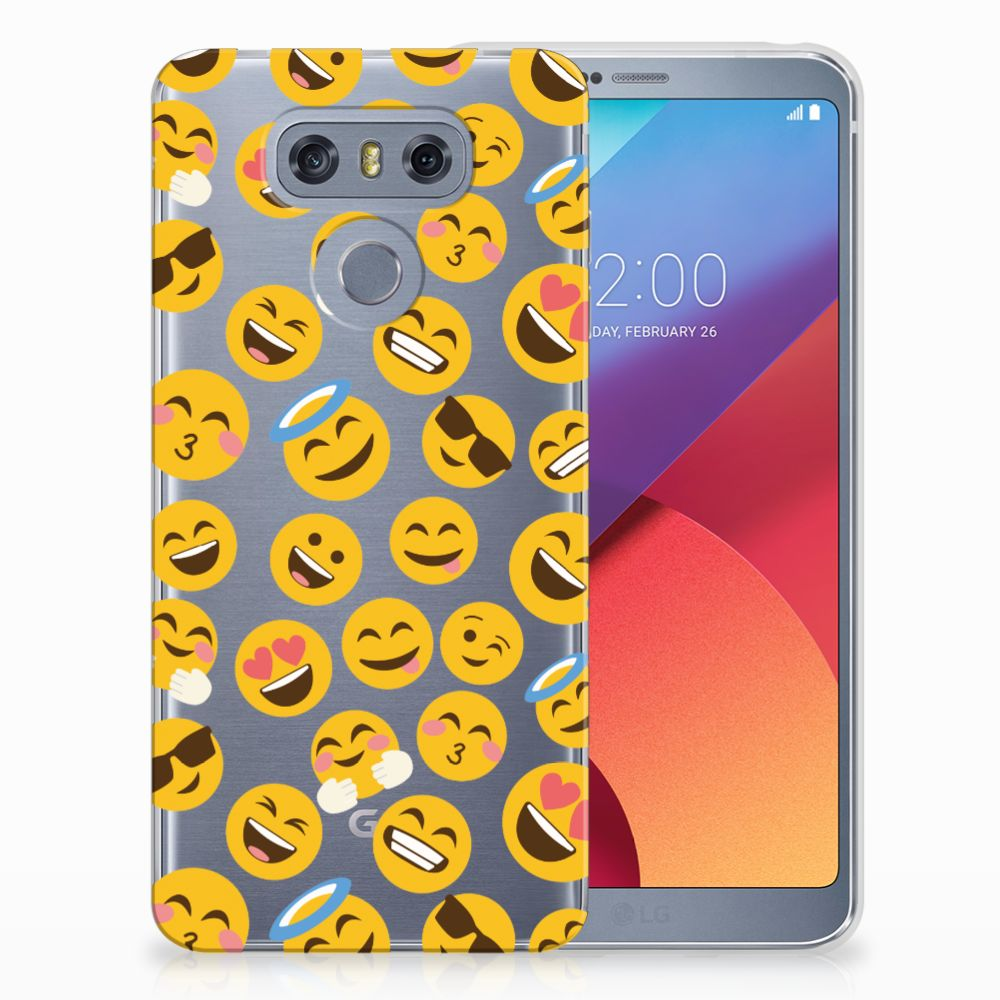 LG G6 TPU Hoesje Design Emoji