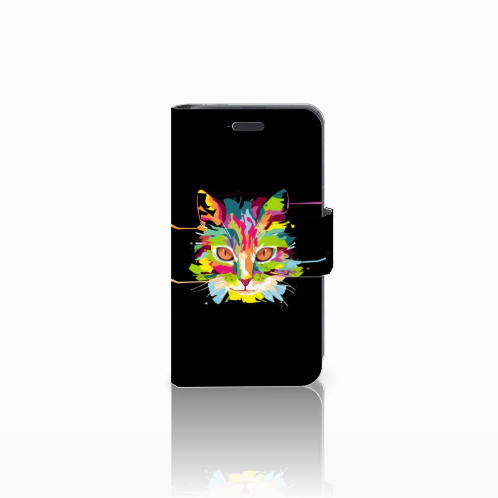 Nokia Lumia 520 Uniek Boekhoesje Cat Color