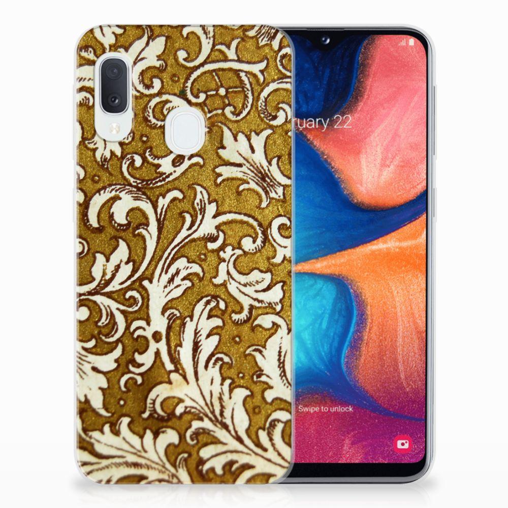 Siliconen Hoesje Samsung Galaxy A20e Barok Goud