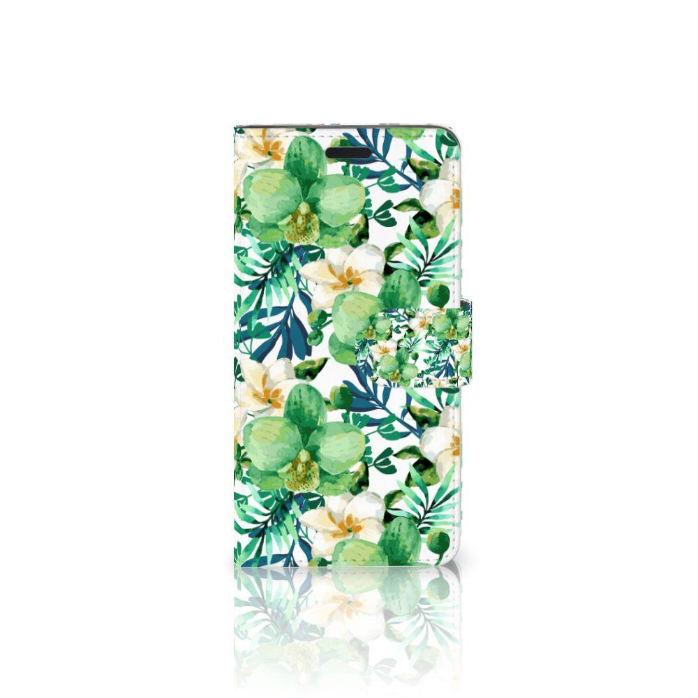HTC 10 Uniek Boekhoesje Orchidee Groen