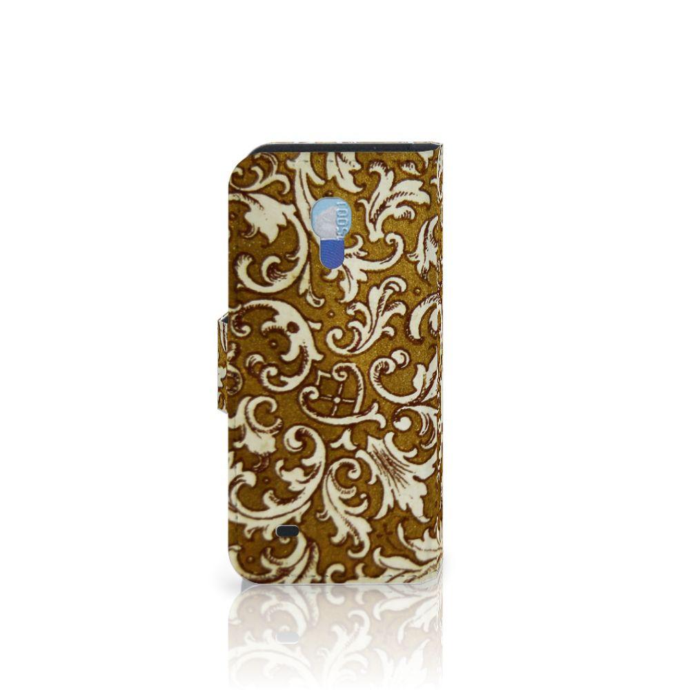 Wallet Case Samsung Galaxy S4 Mini i9190 Barok Goud