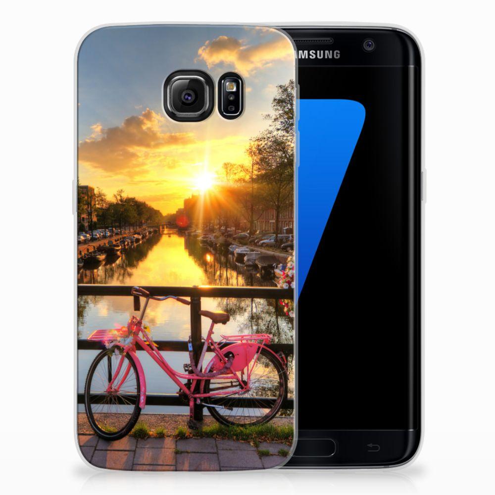 Samsung Galaxy S7 Edge Uniek TPU Hoesje Amsterdamse Grachten