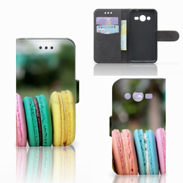 Samsung Galaxy Core 2 Book Cover Macarons