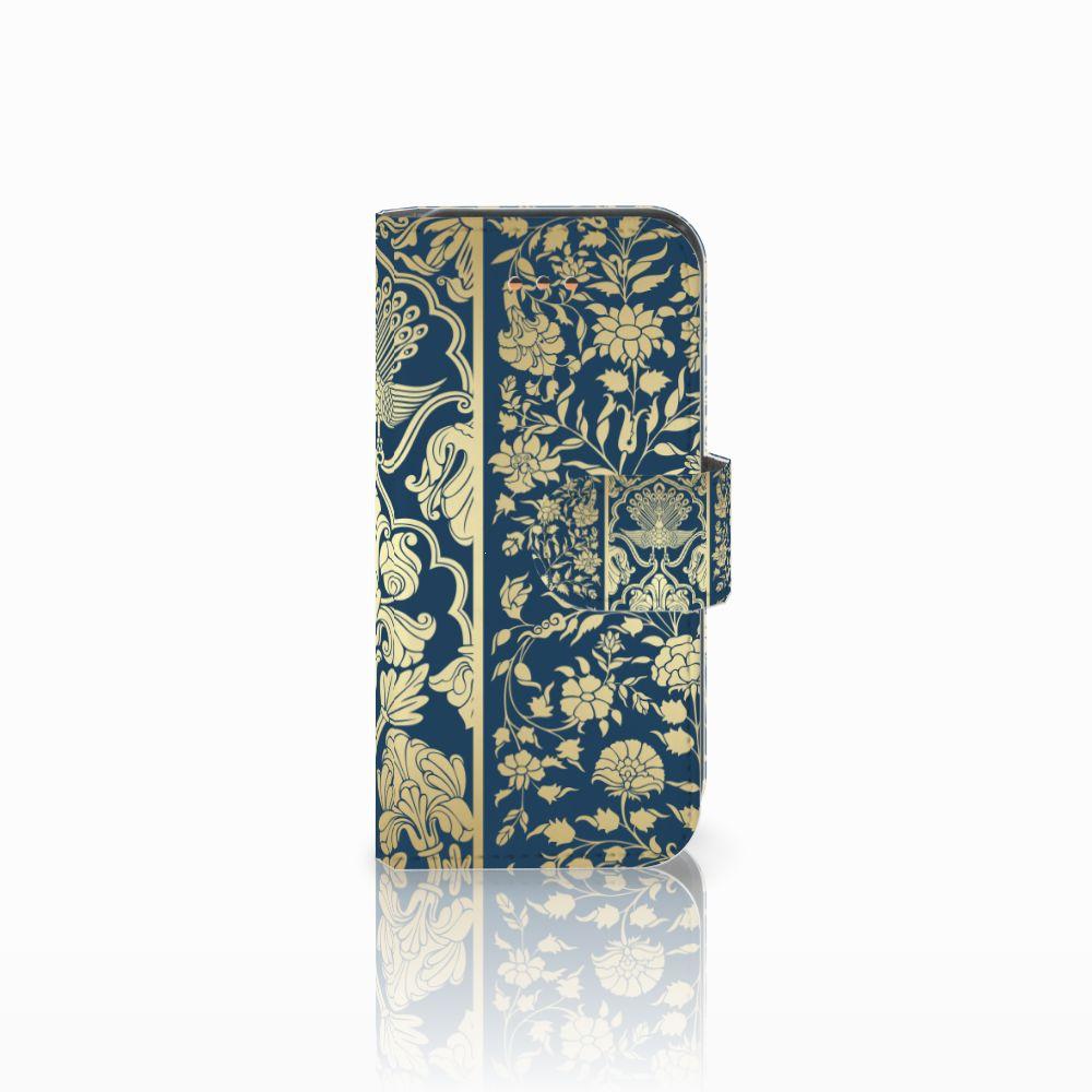 Apple iPhone 5C Uniek Boekhoesje Golden Flowers