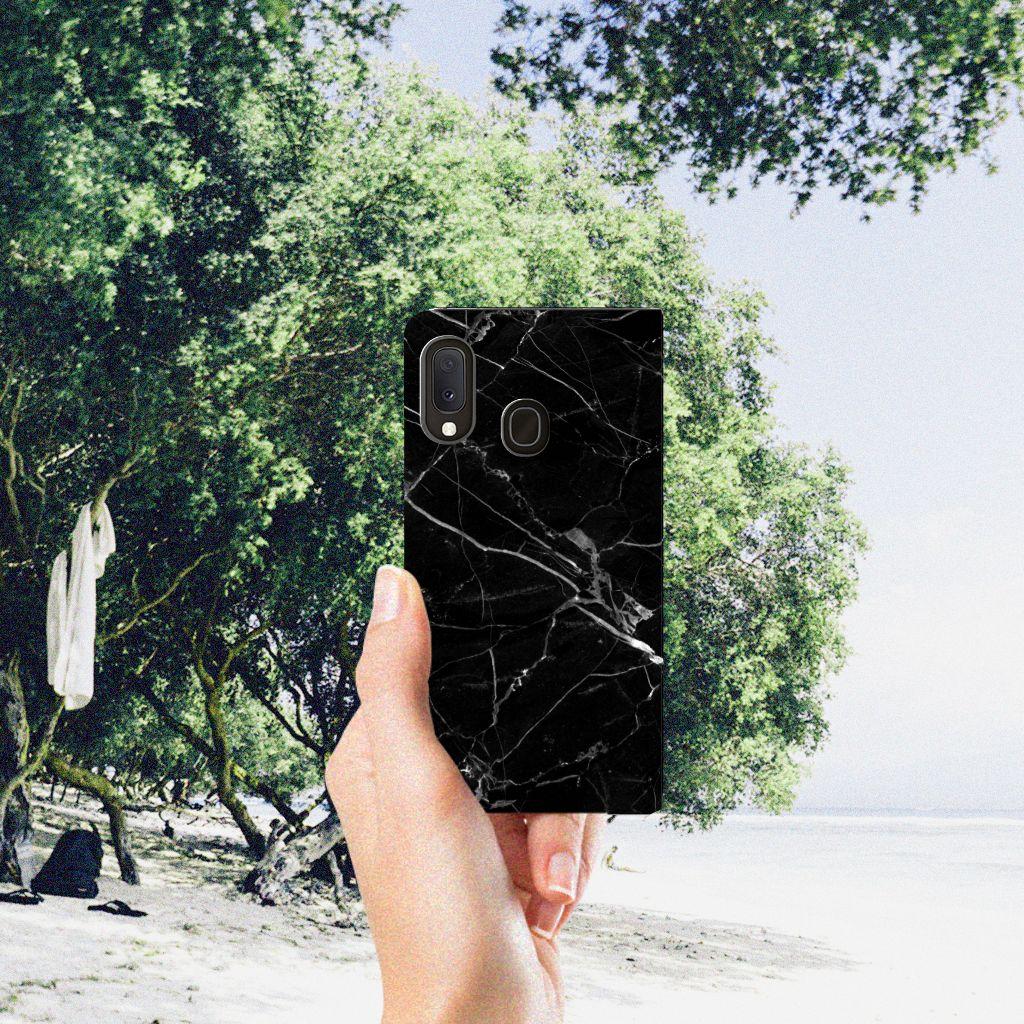 Samsung Galaxy A20e Standcase Marmer Zwart
