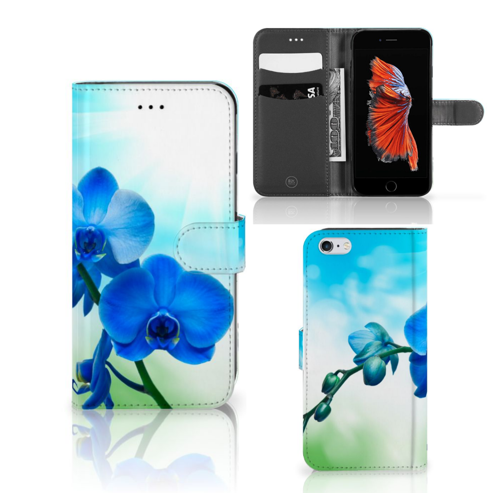 Apple iPhone 6 Plus | 6s Plus Hoesje Orchidee Blauw