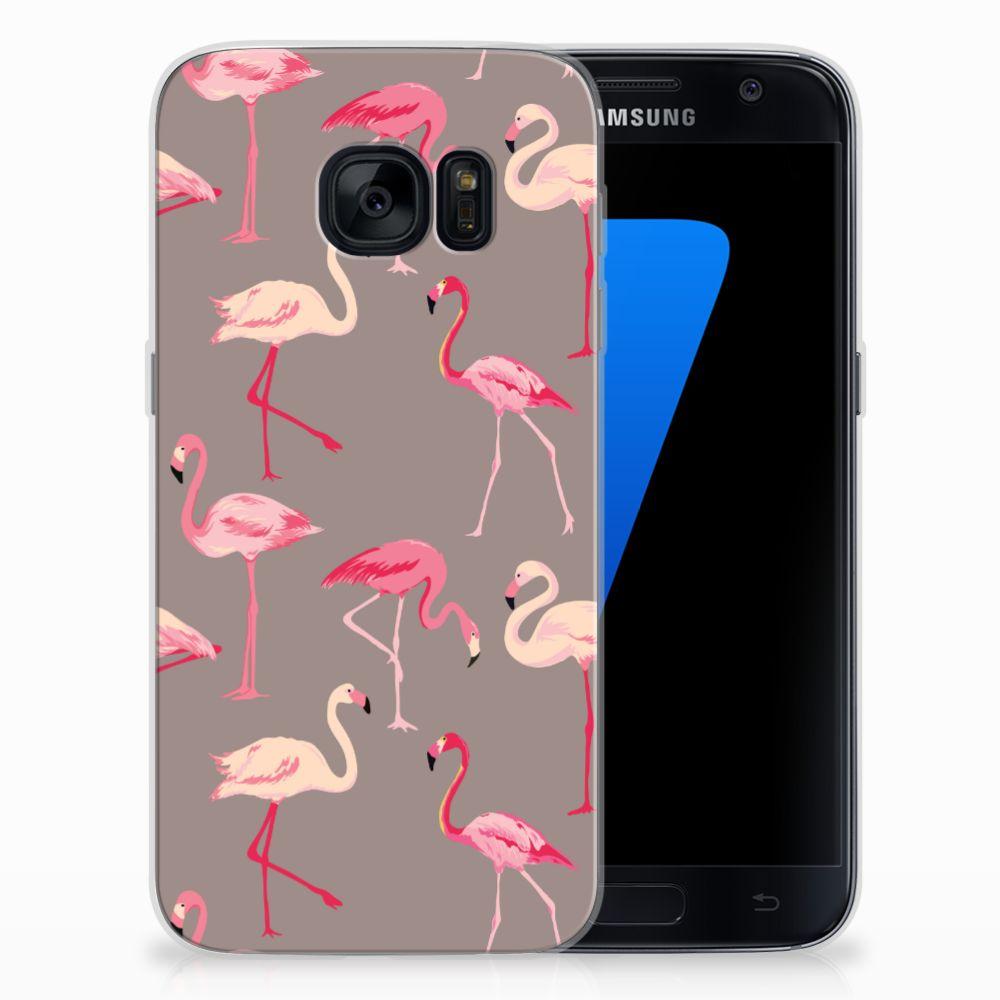 Samsung Galaxy S7 TPU Hoesje Flamingo