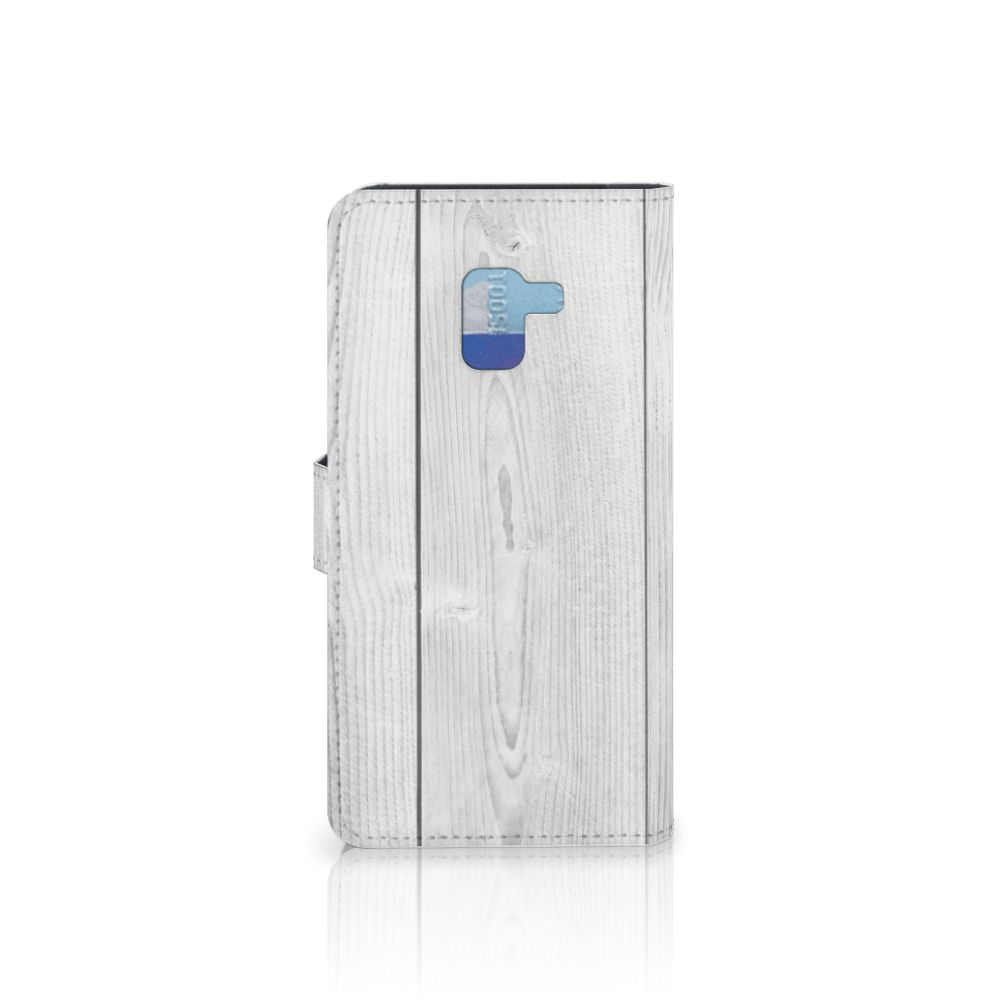 Samsung Galaxy A8 Plus (2018) Book Style Case White Wood