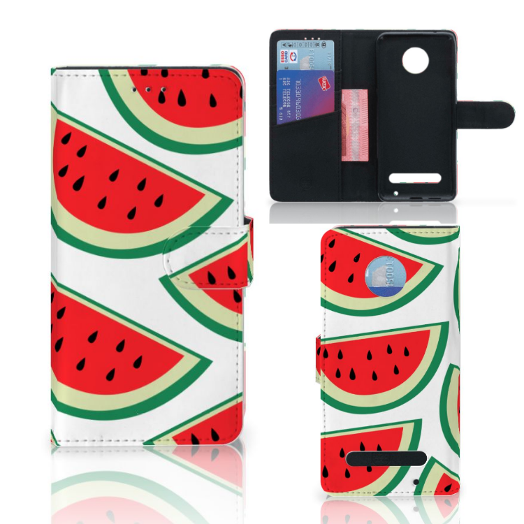 Motorola Moto Z2 Play Book Cover Watermelons