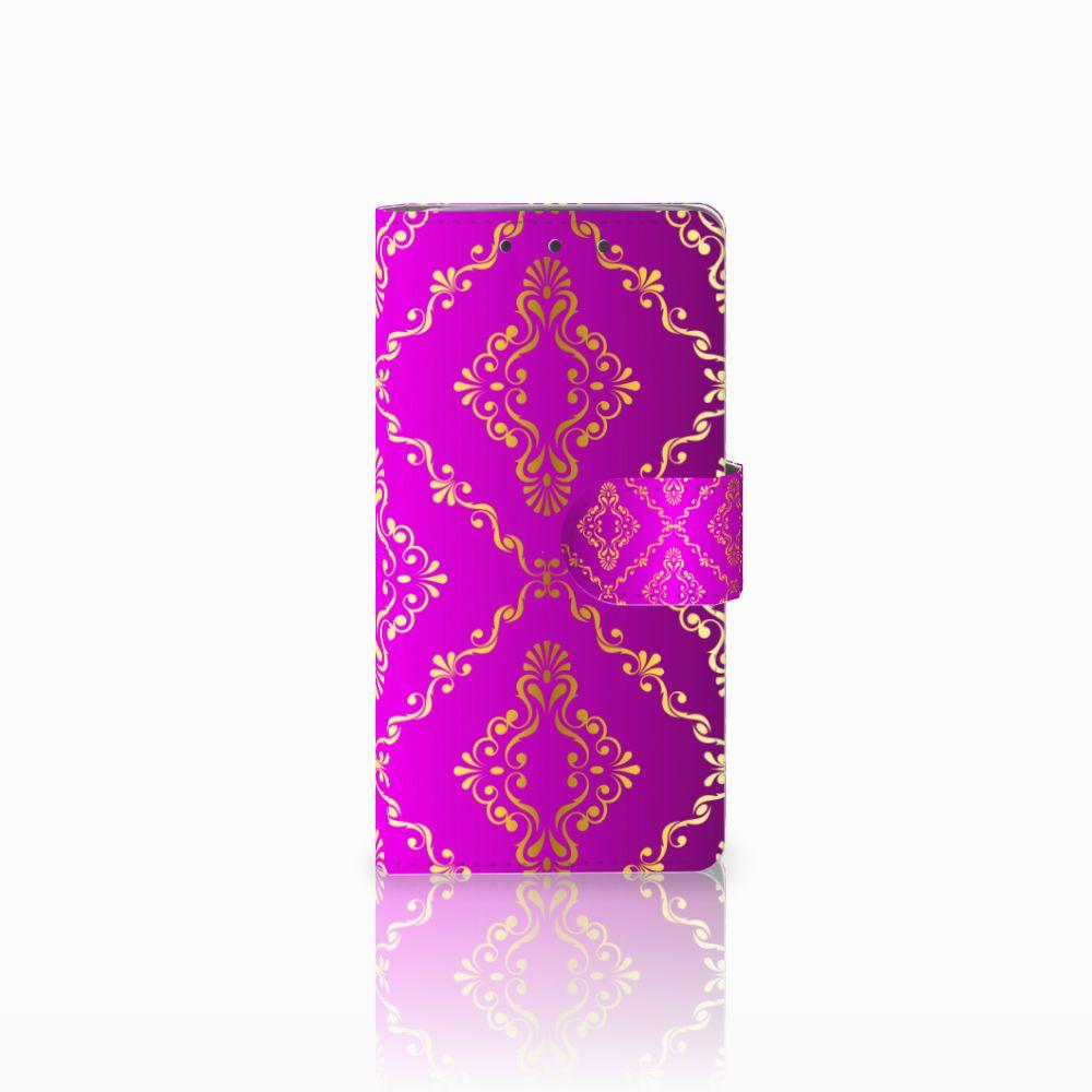 Wallet Case HTC One M7 Barok Roze