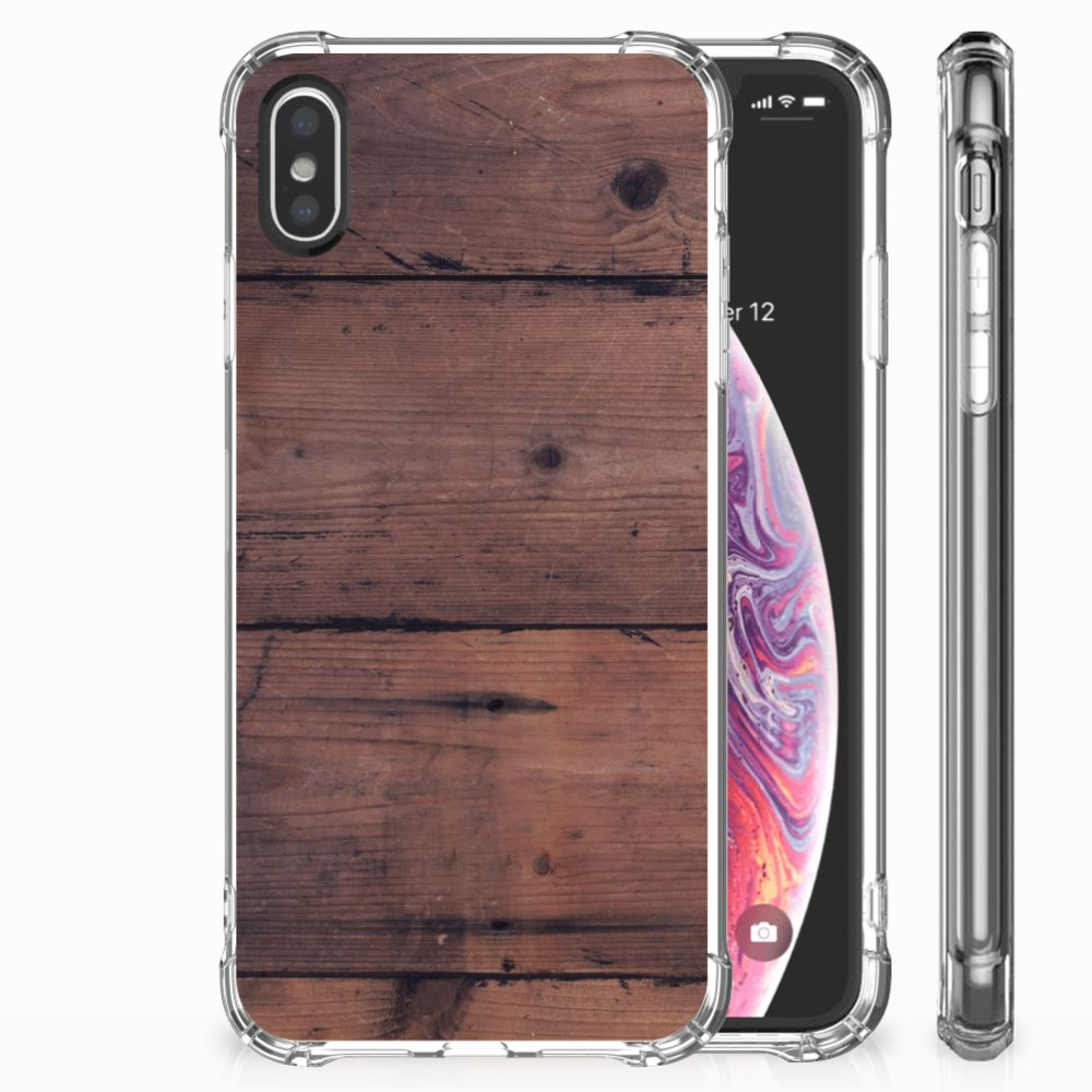 Apple iPhone X | Xs Uniek TPU Hoesje Old Wood
