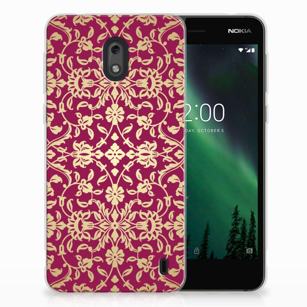 Siliconen Hoesje Nokia 2 Barok Pink