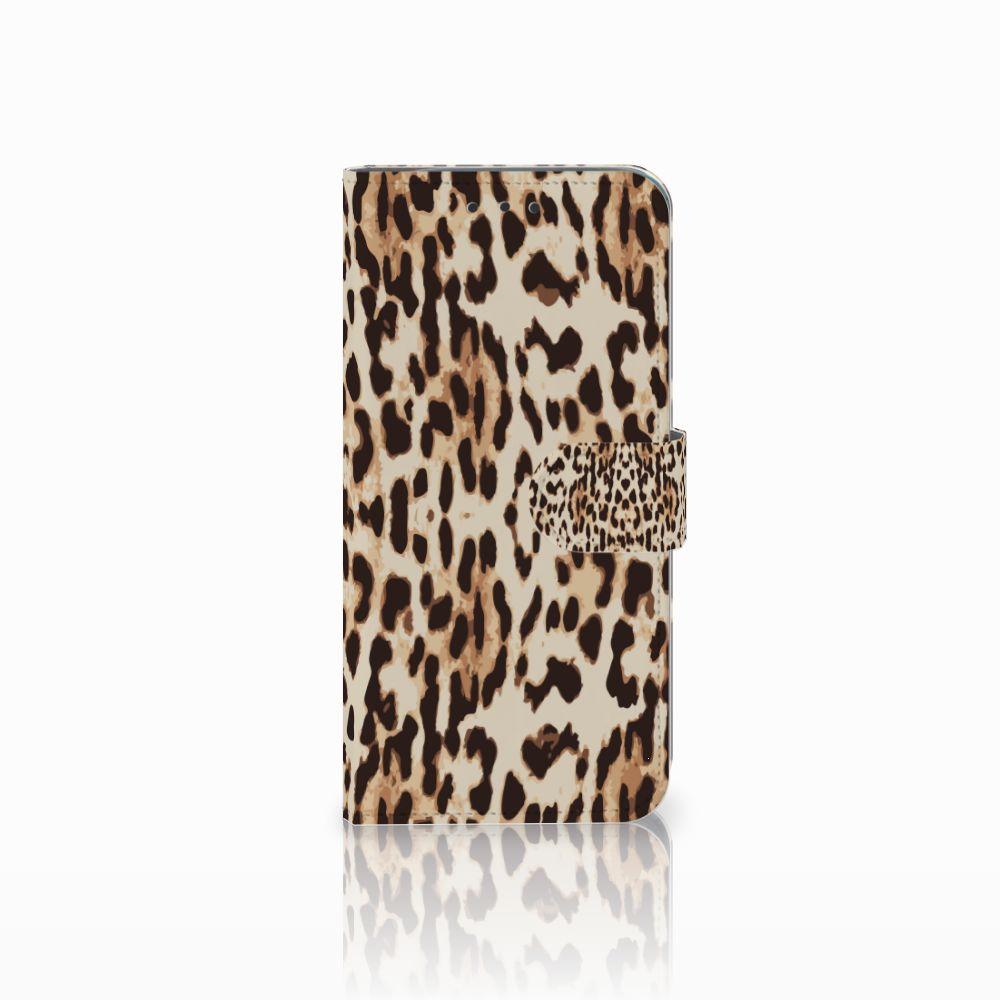 Motorola Moto G6 Play Uniek Boekhoesje Leopard