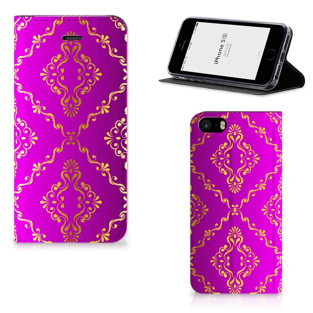 Telefoon Hoesje iPhone SE|5S|5 Barok Roze